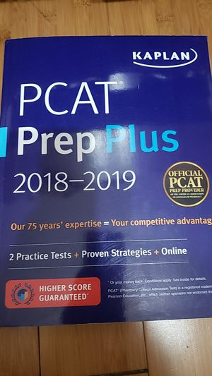PCAT Prep Plus 2018-2019 Kaplan for Sale in Ontario, CA
