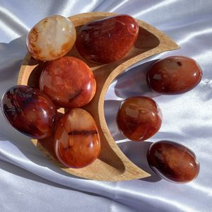 Carnelian Crystal Palm Stone For Crystal Healing And Metaphysical Healing for Sale in Garden Grove, CA