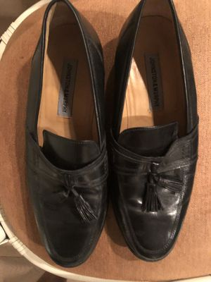 Johnson and Murphy men's black leather shoes. Used excellent condition for Sale in Naples, FL