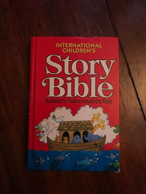Children's story bible illustrated by children for Sale in Attleboro, MA