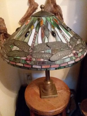 Tiffany style stained glass dragonfly lamp. for Sale in Gaithersburg, MD
