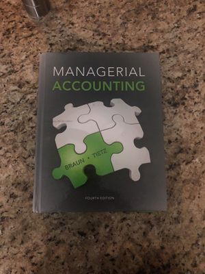 Managerial Accounting Book for Sale in Tempe, AZ