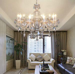 10 Arms Chandelier K9 Crystal Glass Ceiling Light E12 Pendant Lamp Cognac Color for Sale in Orlando, FL
