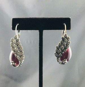 Hanging Peacock Purple earring for Sale in San Diego, CA
