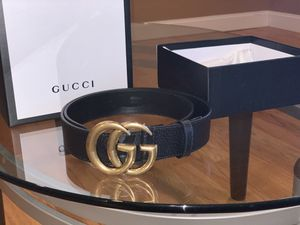 """GUCCI Leather Belt with """"Double G Buckle"""" for Sale in Farmingville, NY"""