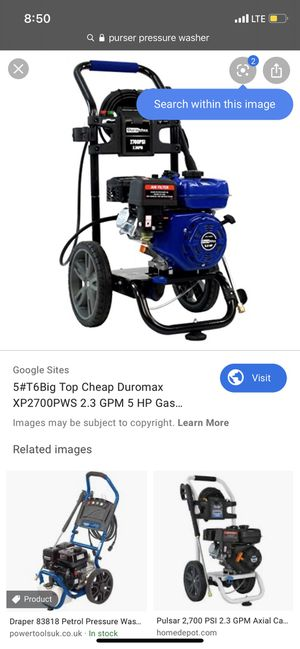 Pressure washer 2700 psi for Sale in San Francisco, CA