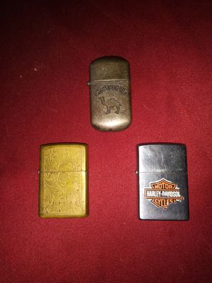 2 zippo 1 camel lighter for Sale in Gray Court, SC