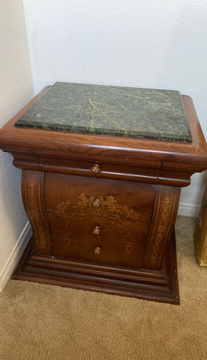 Two Green limestone topped nightstands for Sale in Chino, CA