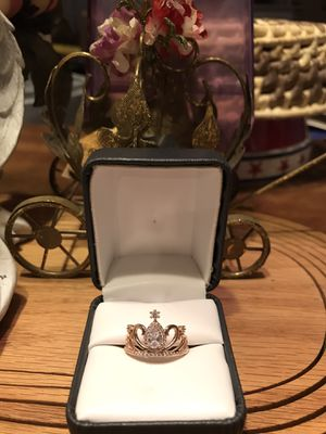 Beautiful!!! Gold Crown Ring with white Diamond Sapphires for Sale in Gainesville, VA