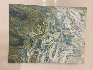 Acrylic paint pour (navy/yellow) for Sale in Oklahoma City, OK