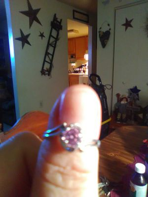 Sterling silver pink ring for Sale in Martinsburg, WV