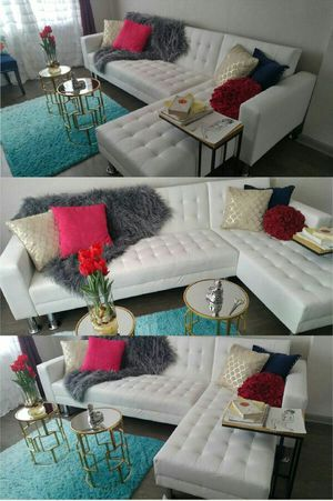 Leather Sectional/Sofa Bed for Sale in Atlanta, GA