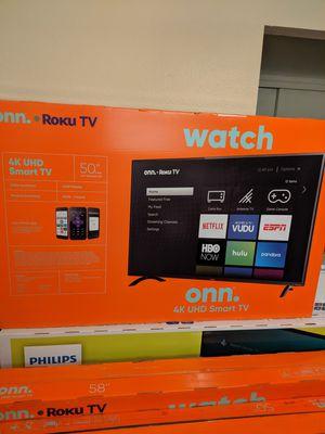 50 inch Onn 4K Smart TV Brand New Sealed for Sale in Clovis, CA