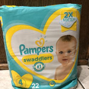 Pampers Swaddlers Diapers Size 4 New Unopened for Sale in Upland, CA