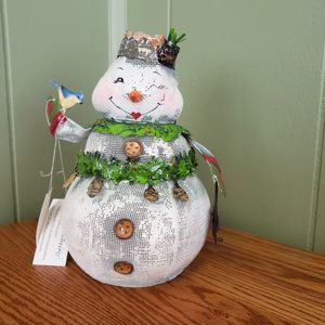 Metal mesh Snowman Candle Holder for Sale in GARDEN CITY P, NY