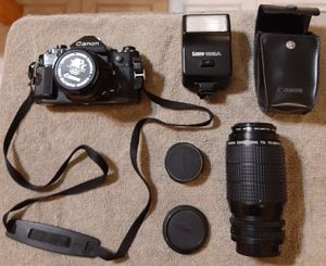Canon A-1 Film Camera & Accessories for Sale in Bolingbrook, IL
