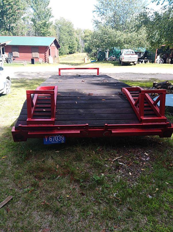 Homemade Heavy duty 18 ft hauling trailer