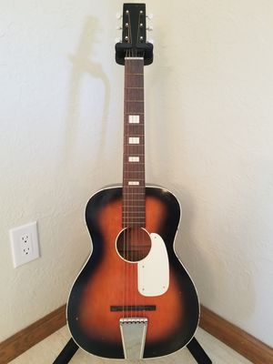 Vintage 1960's Silvertone (Made In USA) Parlor Acoustic Guitar with Case - Trade? for Sale in Woodburn, OR
