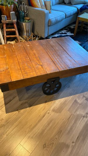 Rail Cart Coffee Table PRICE LOWERED for Sale in Austin, TX