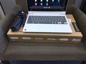 "(New Open Box) Lenovo - 2-in-1 11.6"" Touch-Screen Chromebook - MT8173c - 4GB Memory - 32GB eMMC Flash Memory - Blizzard White (Google Laptop) for Sale in Bellflower, CA"