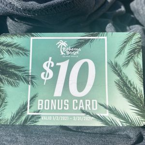Bahama Breeze Bonus $10 Dollar Card! for Sale in Irvine, CA