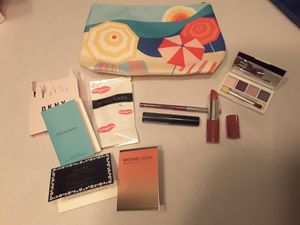 Clinique Cosmetics, make up bag and perfume samples. NEW for Sale in La Mesa, CA