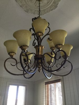 Large-Metal wrought iron chandeliers (2) for Sale in New Orleans, LA