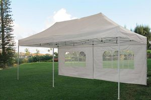 10x20ft Pop up canopy tent with side walls available in blue, white, black for Sale in Chino, CA