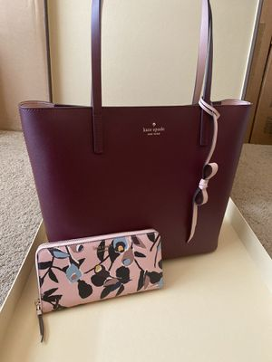 Kate spade tote bag handbag with matching wallet new with tags for Sale in San Antonio, TX