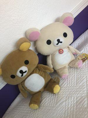 Rilakkuma plush x2 bear plush for Sale in San Diego, CA