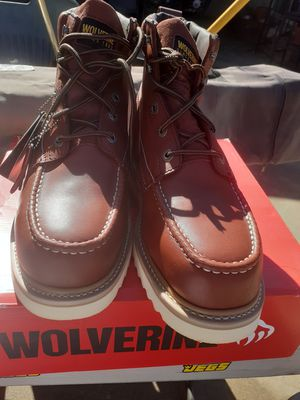 Wolverine work boots steel toe size 13 only brand new only three pairs left all size 13 for Sale in Bloomington, CA