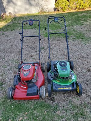 2 - self-propelled lawnmower's (runs but needs work) for Sale in Woonsocket, RI