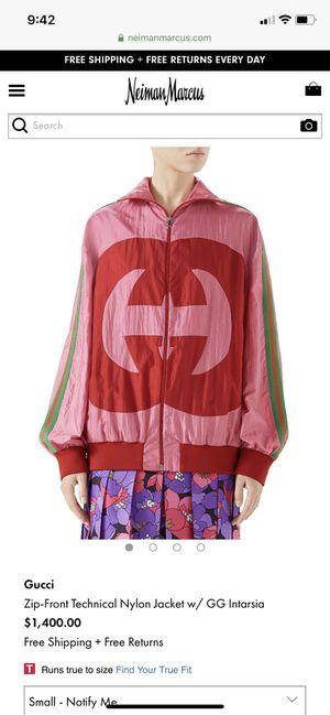 Gucci nylon zip-Front jacket GG Intarsia for Sale in Santa Ana, CA