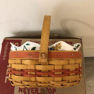 Longaberger Basket, liner and protector for Sale in Spring, TX