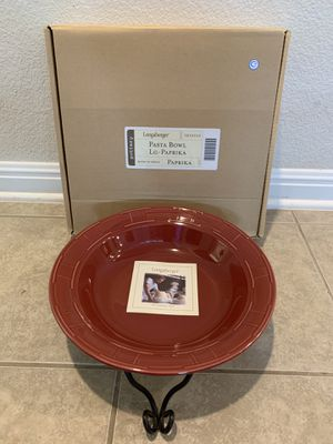 Longaberger Pasta Bowl with Stand for Sale in Leander, TX