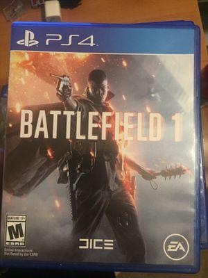 Battlefield 1 PS4 for Sale in Manassas, VA