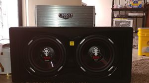 "Two 12"" Boss Phantom Subwoofers and Amplifier for Sale in Denver, CO"