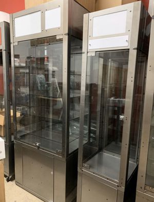 Metal display cases with LED light tops for photos for Sale in San Diego, CA