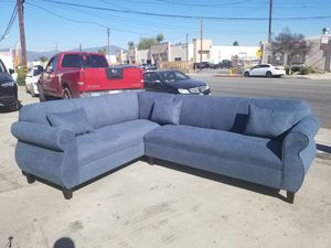 NEW 7X9FT ANNAPOLIS STEEL BLUE FABRIC SECTIONAL COUCHES for Sale in Los Angeles, CA