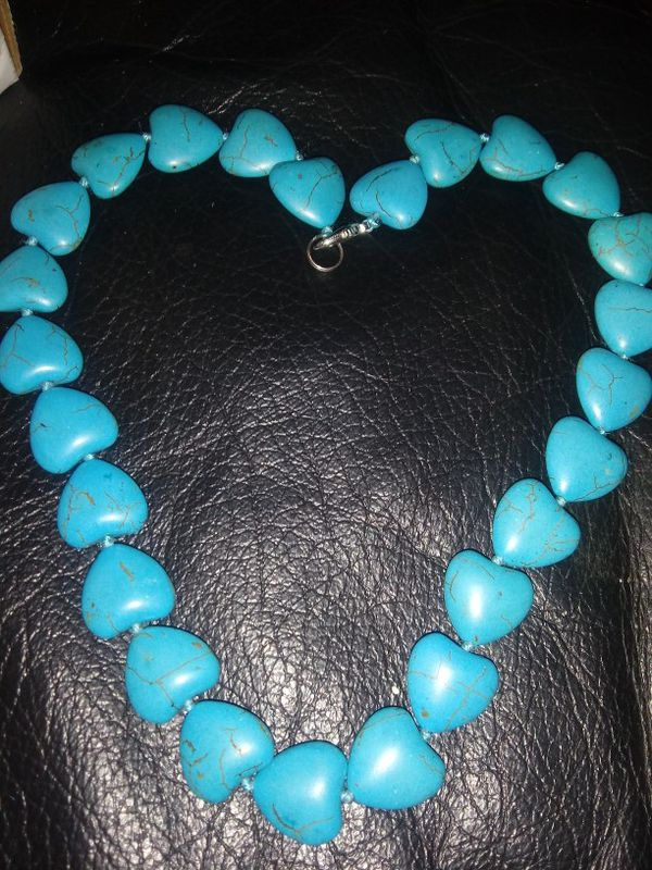 Turquoise Heart Bead Necklace For Your Valentine 💝