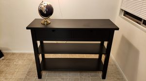 Sideboard table, heavy, black. Two drawers, two shelves for Sale in San Diego, CA