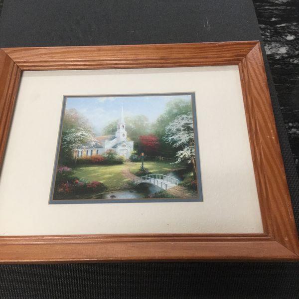 Thomas Kinkade 16x13 Frame ( Hometown Chapel ) With COA