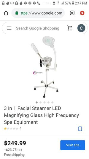 Facial steamer with suction attachment for facials and getting rid of impurities on the skin for Sale in Los Angeles, CA