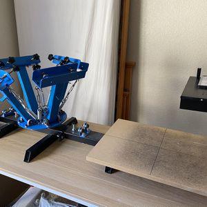 2 station 4 color screen printing press for Sale in Stockton, CA
