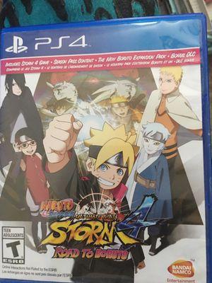 Naruto Shippuden: Ultimate Ninja Storm 4 ROAD TO BORUTO Edition PS4 for Sale in Ellenwood, GA
