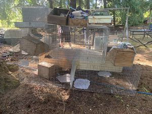 Rabbit cages, nest boxes, water bottles, feeders carry cage for Sale in Boring, OR