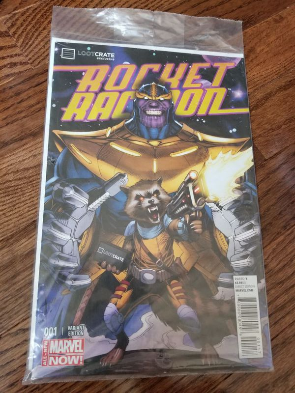 Loot crate exclusive Rocket Racoon comic
