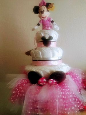 MINNIE DIAPER CAKE ( SIZE 1) for Sale in Fresno, CA