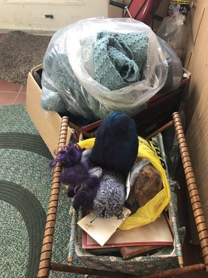Assorted good quality yarn with assorted sizes of needles and patterns for Sale in Providence, RI