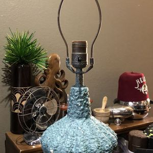 50s Mid Century Blue Speckled Lamp Vintage for Sale in Dallas, TX